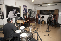 The Fluffy Jackets recording at 